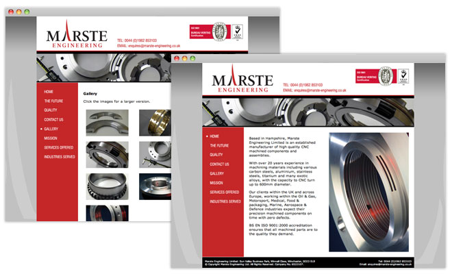 Marste Ehgineering Website