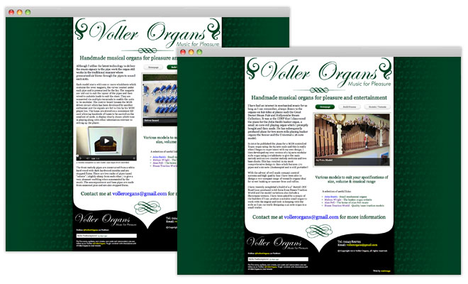 Voller Organs Website