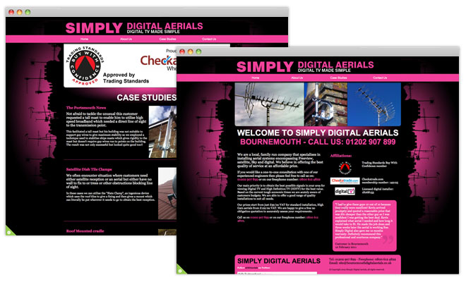 Simply Digital Aerials Website
